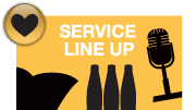 SERVICE LINE UP